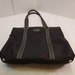 EUC. Maxx New York Nylon/Leather Large Tote Bag
